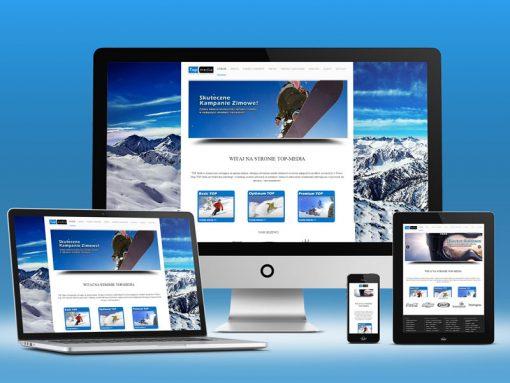 Strona internetowa Top Media