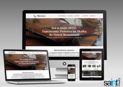 """Strona Internetowa Restauracji """"Restauracja Skałka"""""""